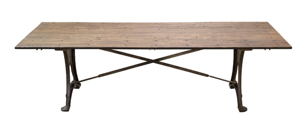 9ft Marsh 18-Wheeler Floor Board Dining Table - Paul Michael Company - 1