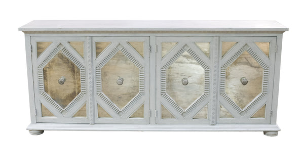 Whitewash Cypress Console 8ft - Paul Michael Company