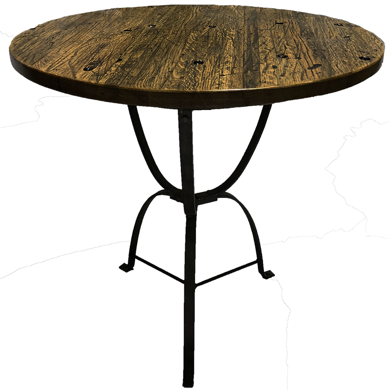 18-Wheeler Floor Board Oak Bistro Table