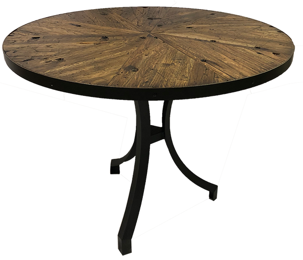 Starburst 18-Wheeler Floor Board Oak Table