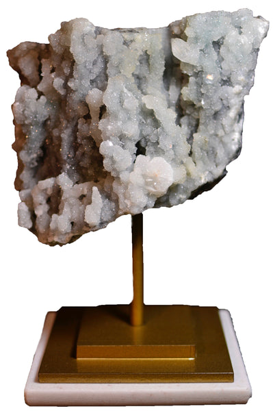 Mounted Mineral Cluster in Gold Stand 8.5x4.5in