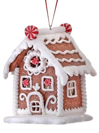 Peppermint Gingerbread House Ornaments