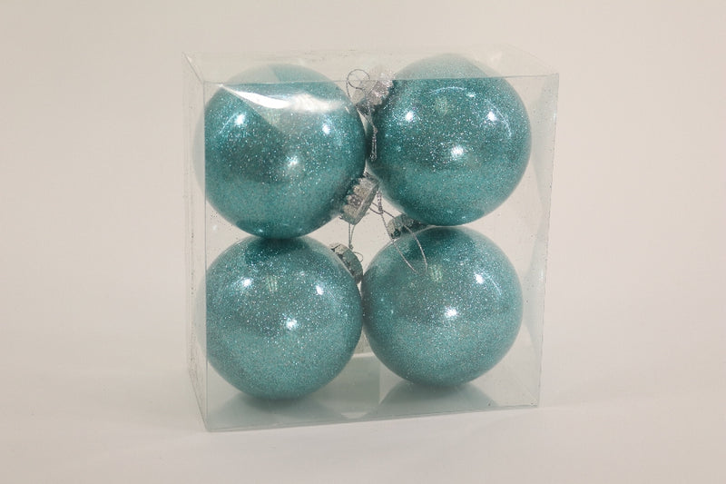 Box of Four Frozen Glitter Ball Ornament