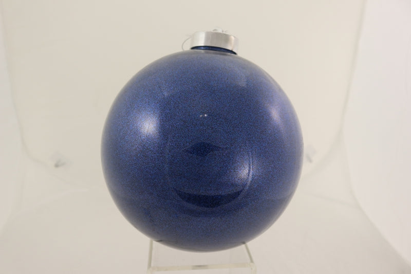 Box of Two Blue Glitter Ball Ornament
