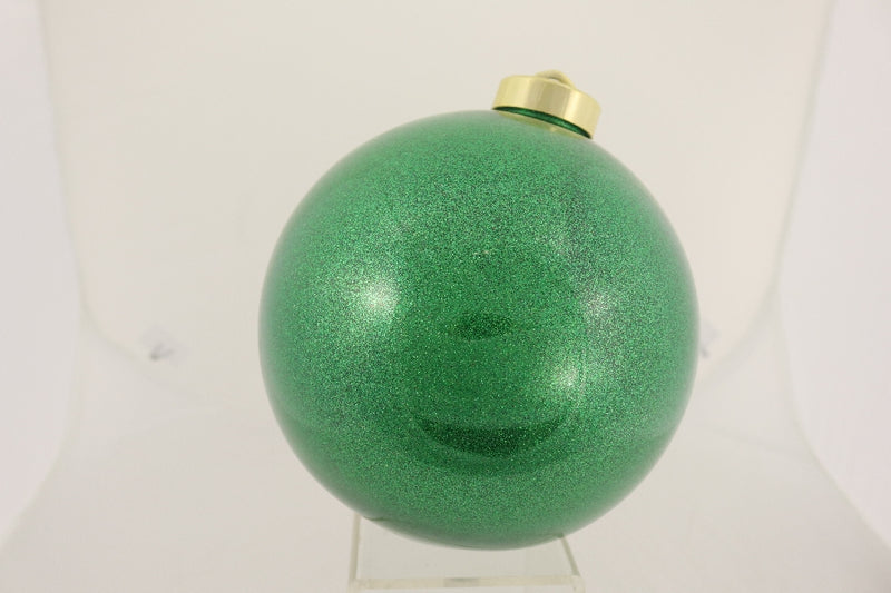 Green Glitter Ball Ornament