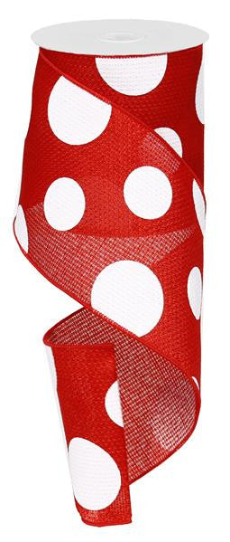 Polka Dot Red White Ribbon - Paul Michael Company