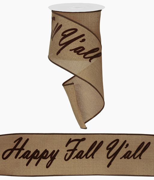 Happy Fall Y'all Ribbon