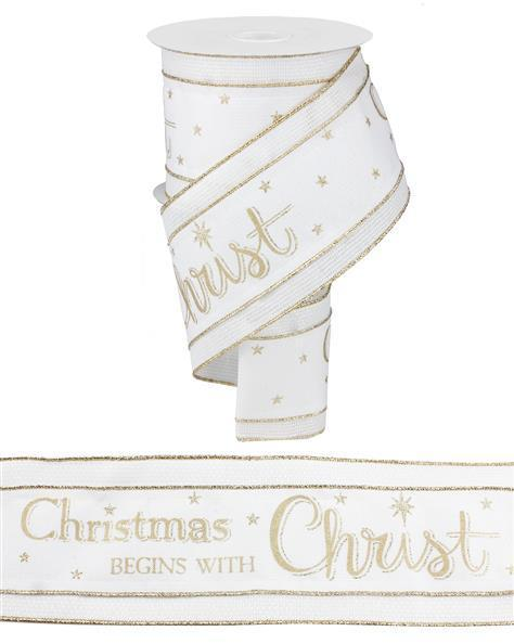 Ivory and Gold Christ Ribbon