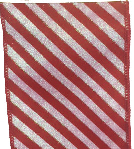 Red and White Candy Cane Ribbon