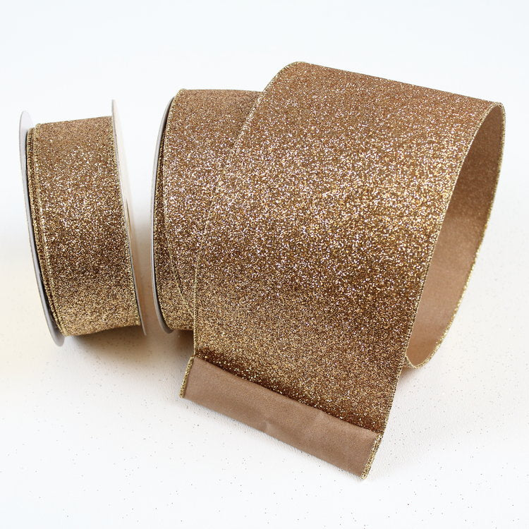 Light Gold Diamond Glitter Ribbon