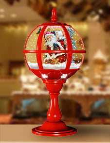 Red Tabletop Santa Snowglobe