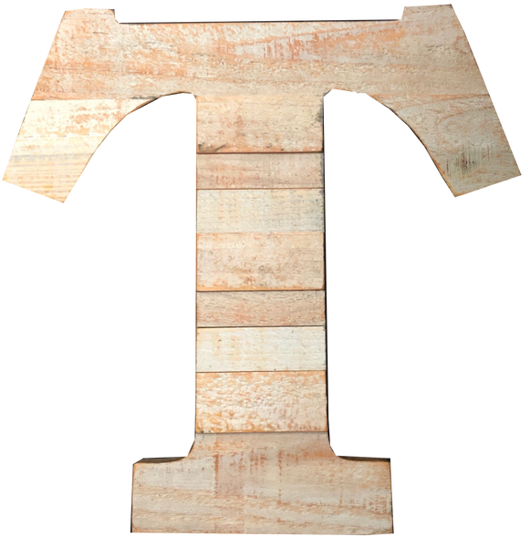 Pine Wood Letter T