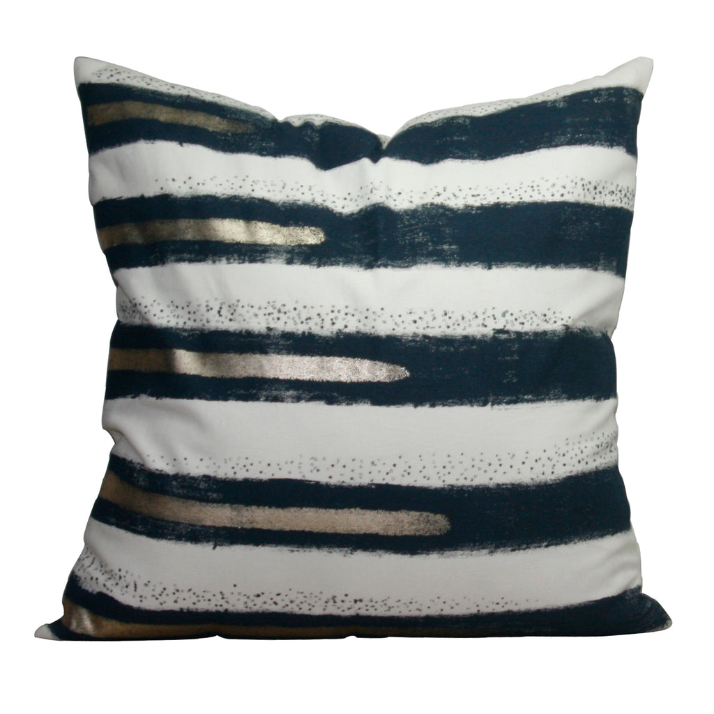 Leslie Hand Painted Throw Pillow