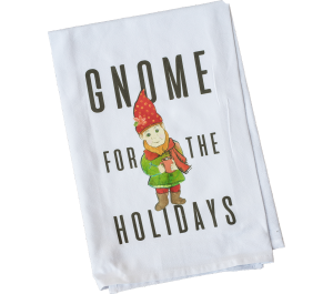 Gnome for the Holidays Dish Towel