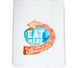 Eat Here Dish Towel