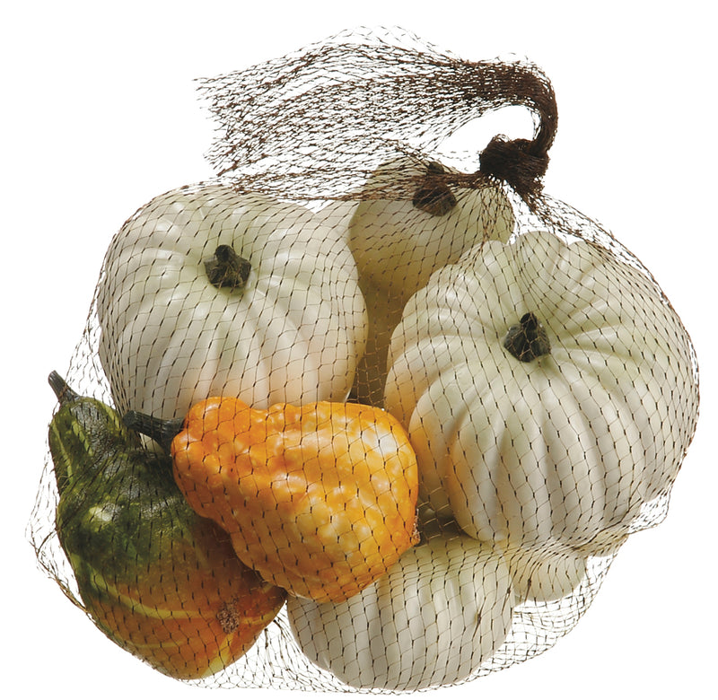Assorted Cream and Orange Pumpkins