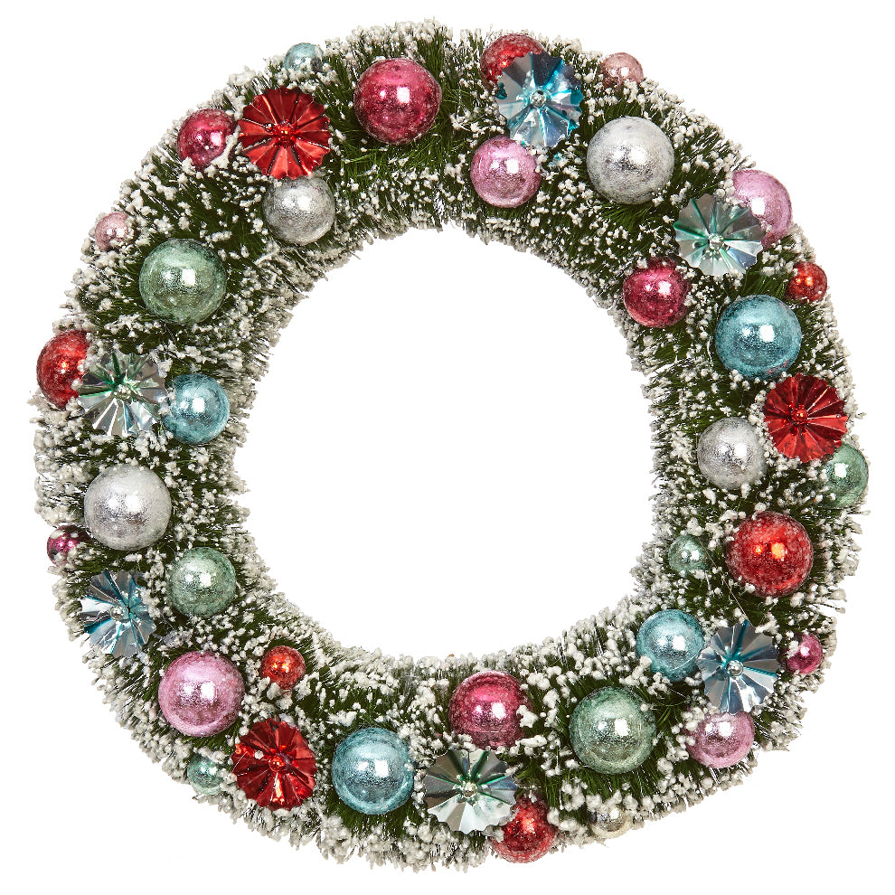 Sisal Multi-Colored Vintage Christmas Wreath