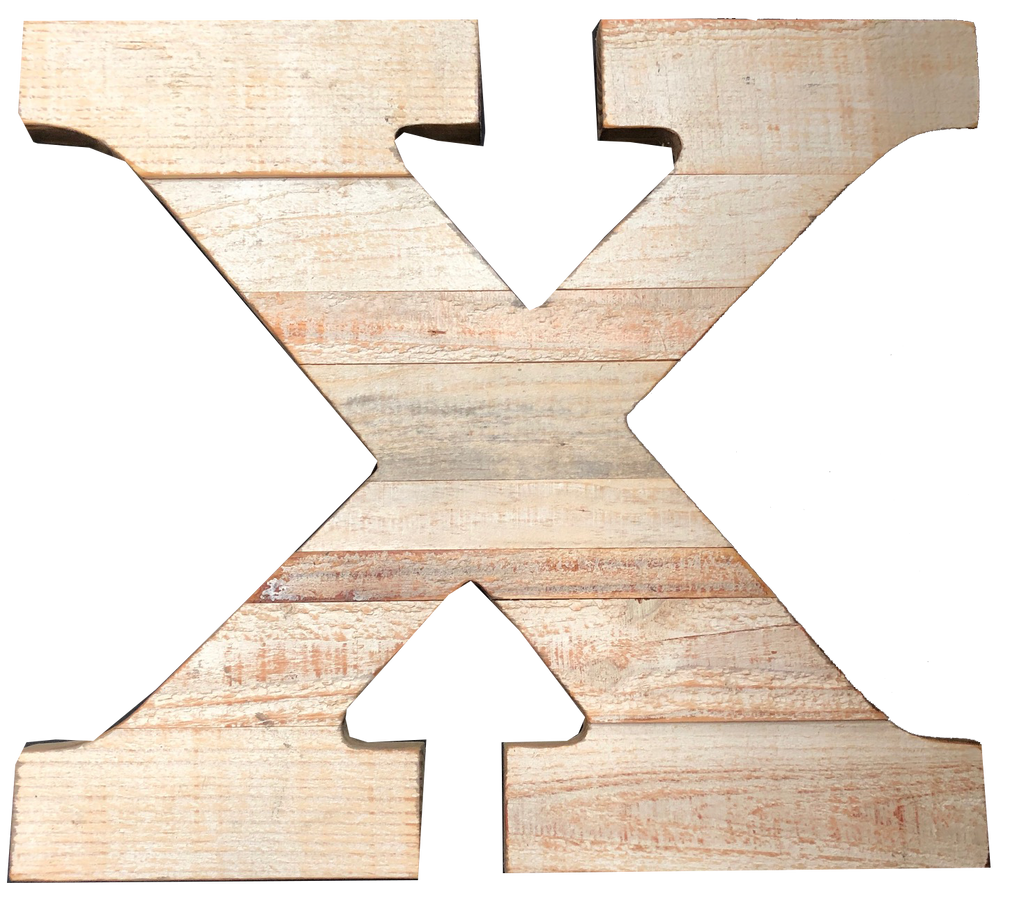 Pine Wood Letter X