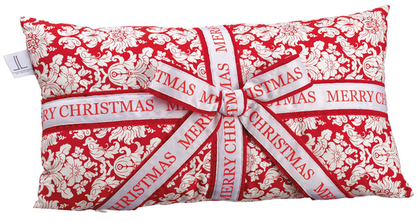 Merry Christmas Damask Pillow