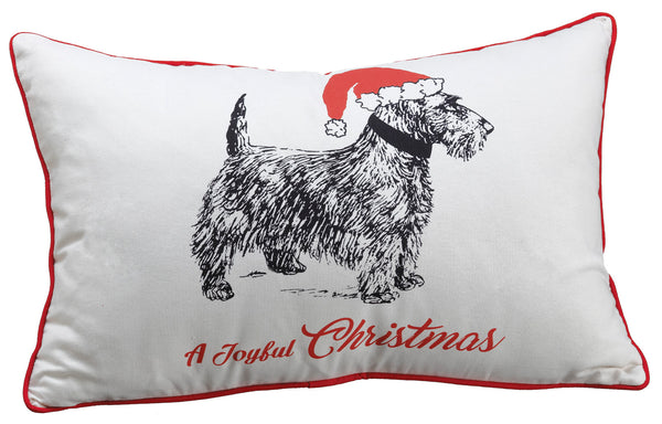 Joyful Christmas Dog Pillow