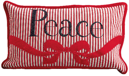 Striped Peace Pillow