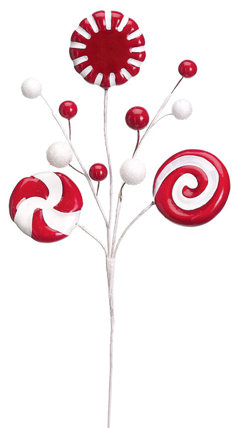 Red and White Candy Peppermint Spray
