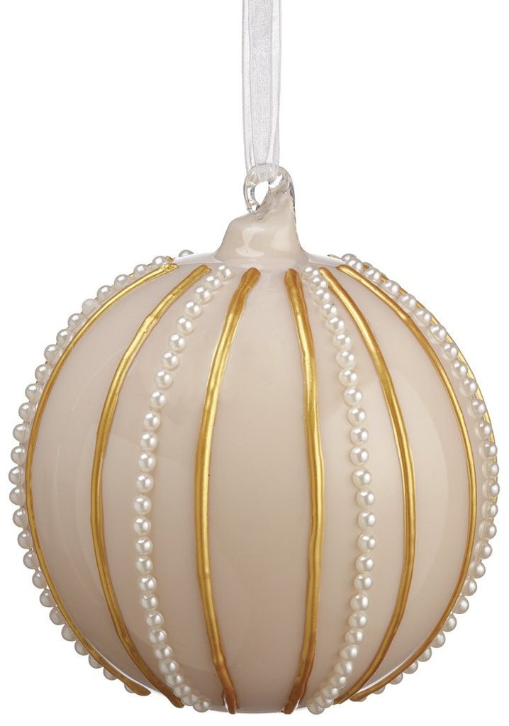Glass Ornament with Pearls