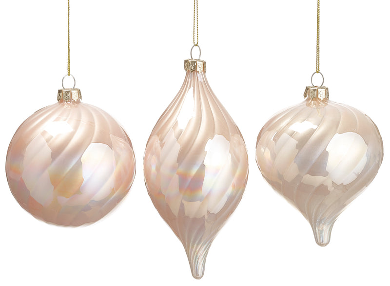 Pearly Iridescent Ornaments