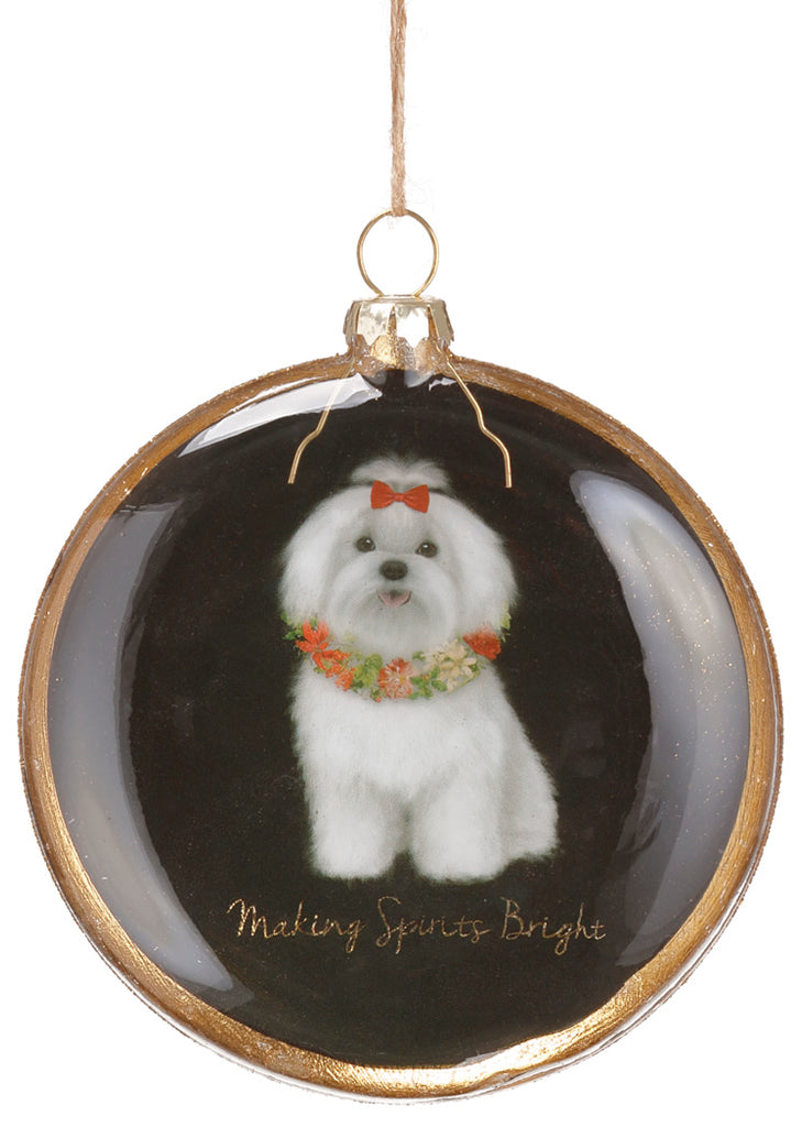 Maltese Dog Ornament