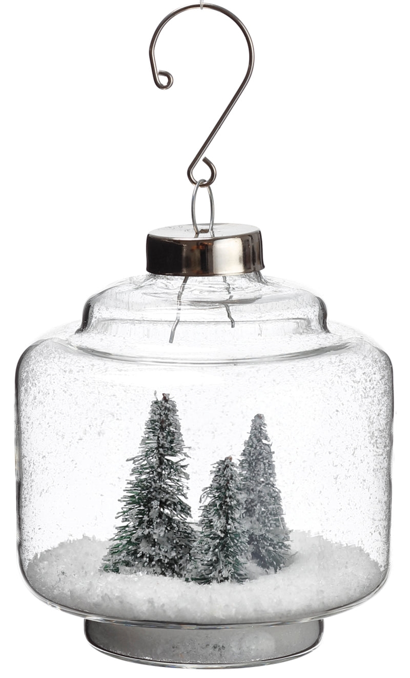 Tree in Snow Ornament