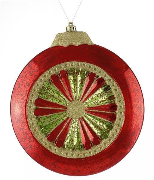 Vintage Red, Green & Gold Ornament