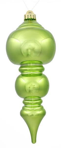 Shiny Lime Finial Ornament