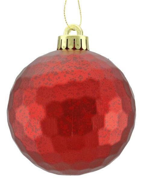Honeycomb Matte Red Ornament