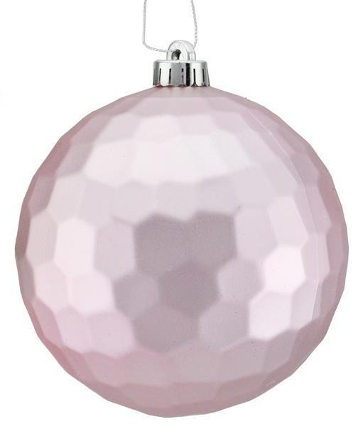 Icy Pink Matte Honeycomb Ornament 6in