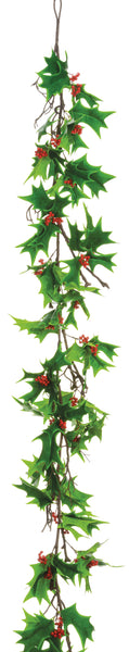 Holly Leaf and Berry Garland