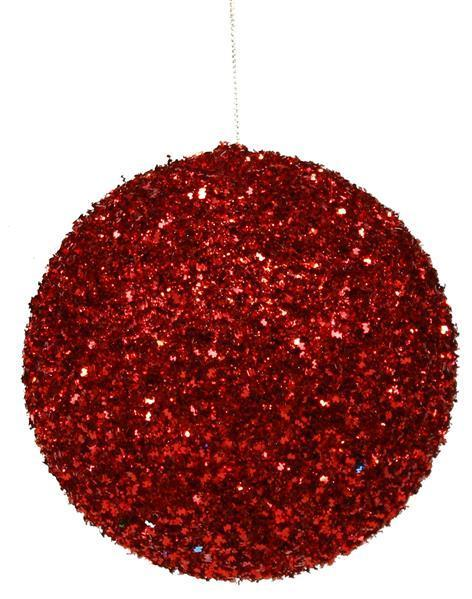 Red Glitter Ornament 4.75in