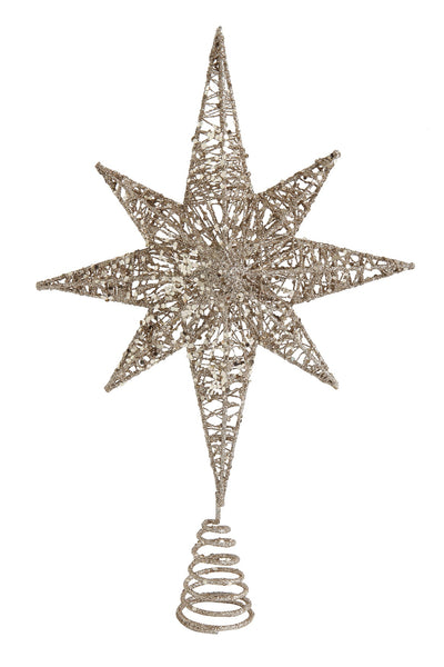 Glitter Star Christmas Tree Topper