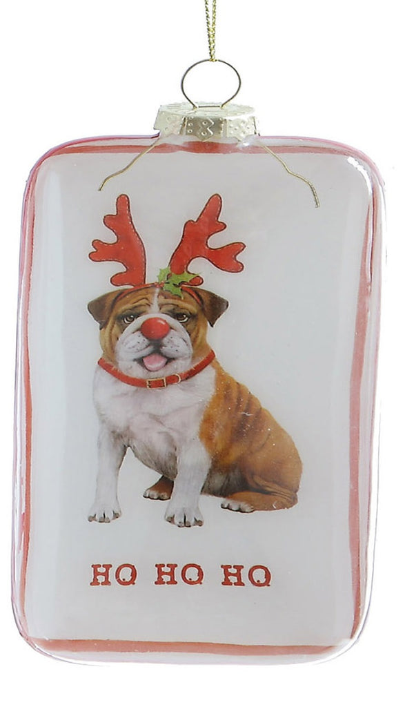 HoHoHo Bulldog Ornament