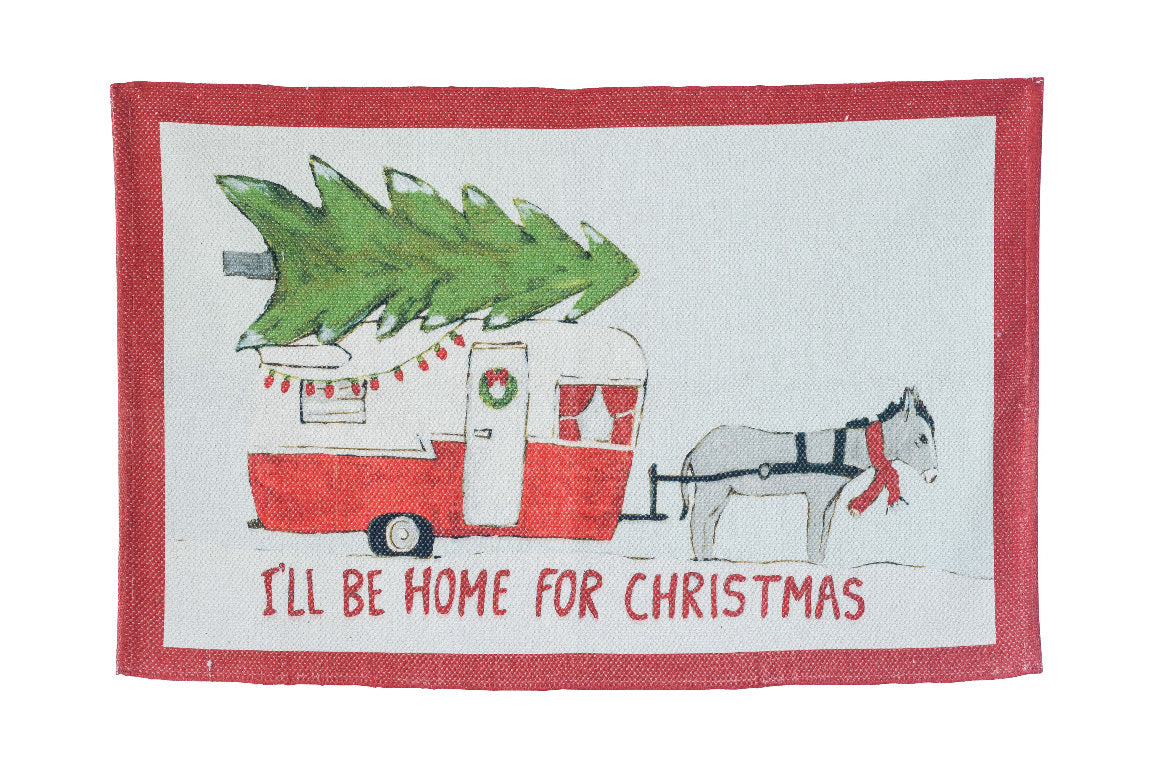 I\'ll Be Home For Christmas Rug – Paul Michael Company