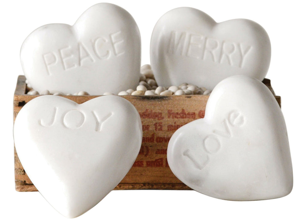 Marble Hearts with Sayings