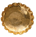 Gold Brass Scalloped Tray