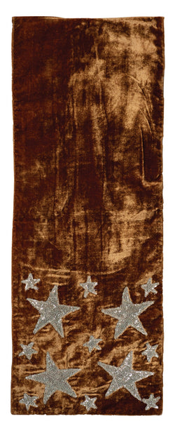Bronze Velvet with Stars Holiday Runner