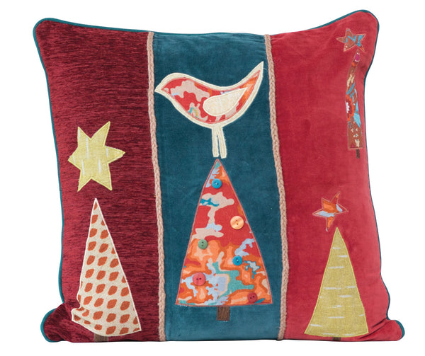 Christmas Tree Applique Pillow