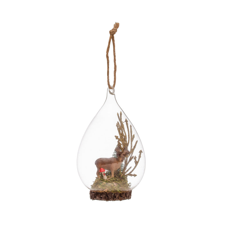 Moose in Glass Bulb Ornament
