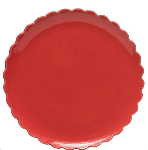 Scalloped Stoneware Dinner Plates
