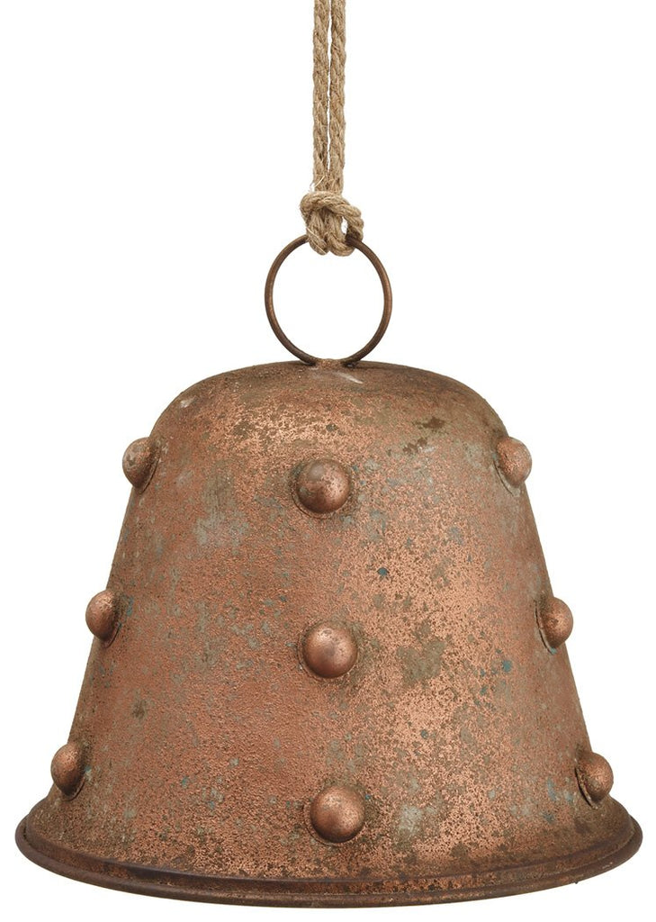 Rusted Metal Christmas Bell Ornament