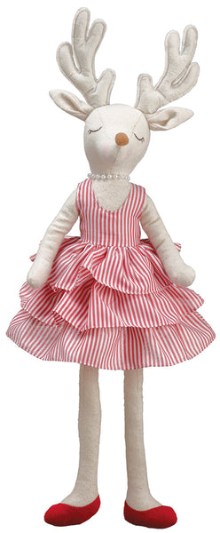 Reindeer Girl Stripe Dress