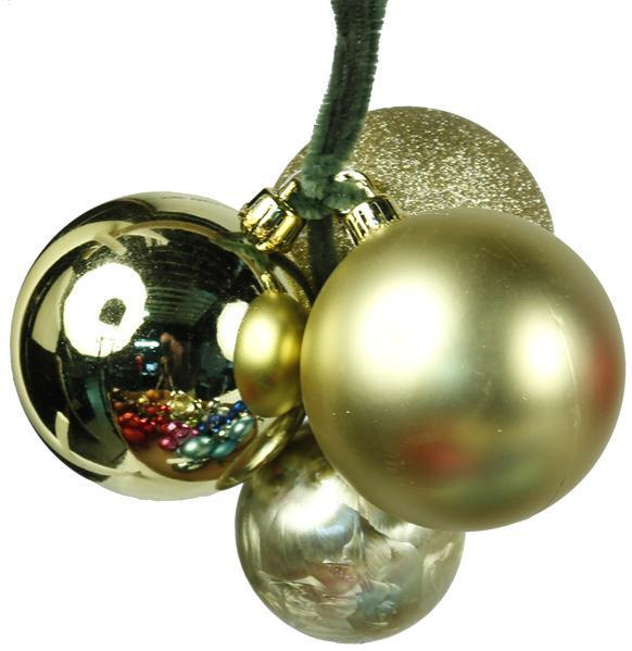 Gold Ball Cluster Ornament
