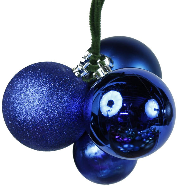 Royal Blue Cluster Ornament