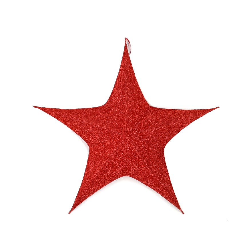 Red Foldable Star Medium